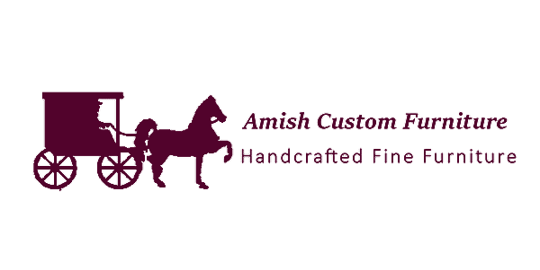 amish custom furniture logo invert